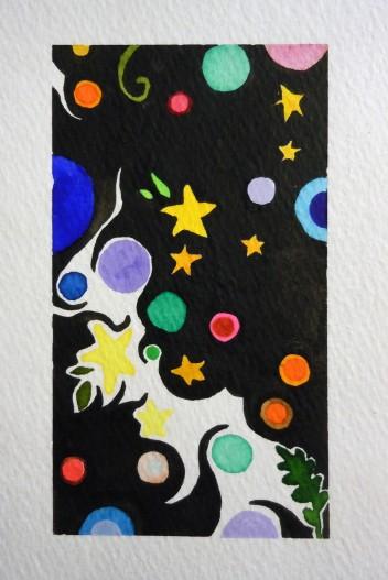 Joy. Watercolor on paper.
