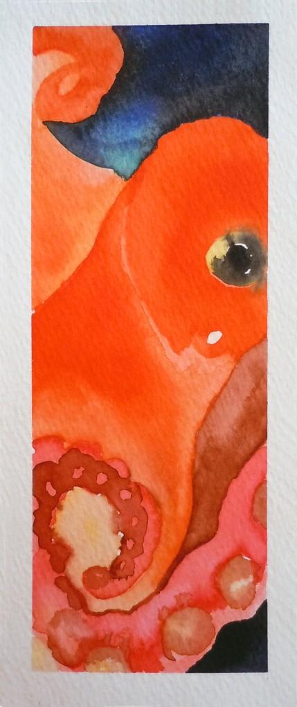 Mollusk. Watercolor on paper.