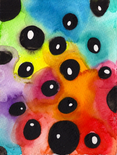 Weirdspots. Watercolor on Paper.