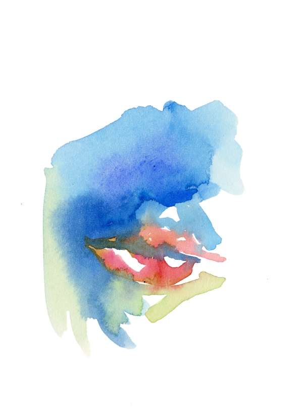 Mouth. Watercolor on paper.