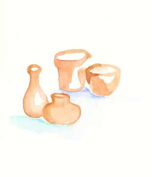 Terracotta. Watercolor on paper.