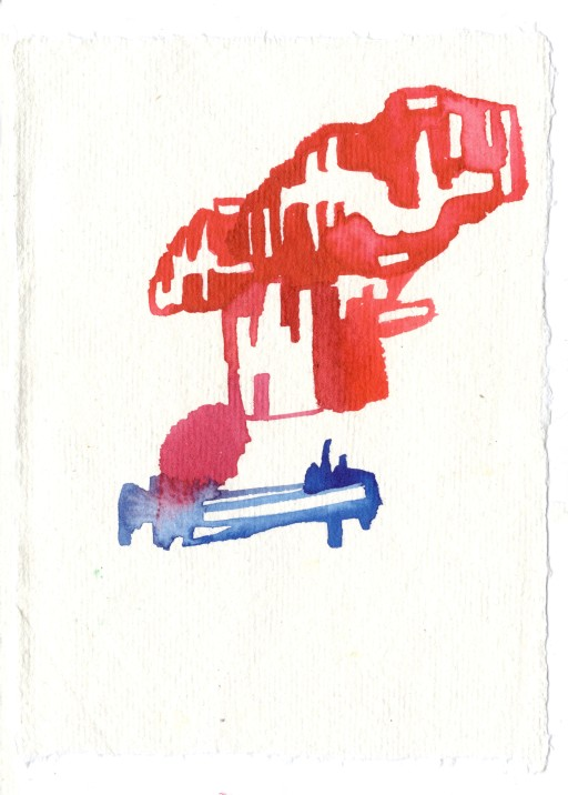 Untitled. Watercolor on Indian rag cotton paper.