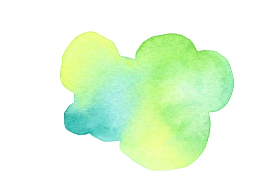 Green. Watercolor on paper.