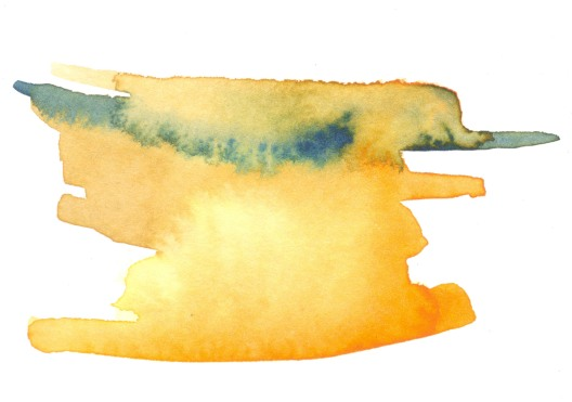 Yellow. Watercolor on paper.