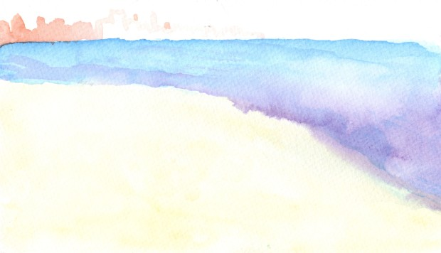 Sister's Watercolor. Watercolor on paper.