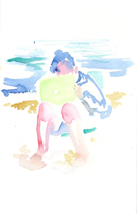 Untitled. Watercolor on paper.
