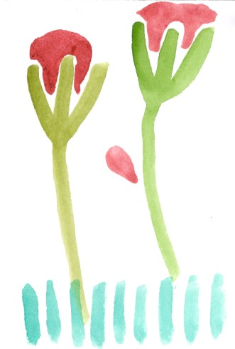 Uglyflowers. Watercolor on paper.