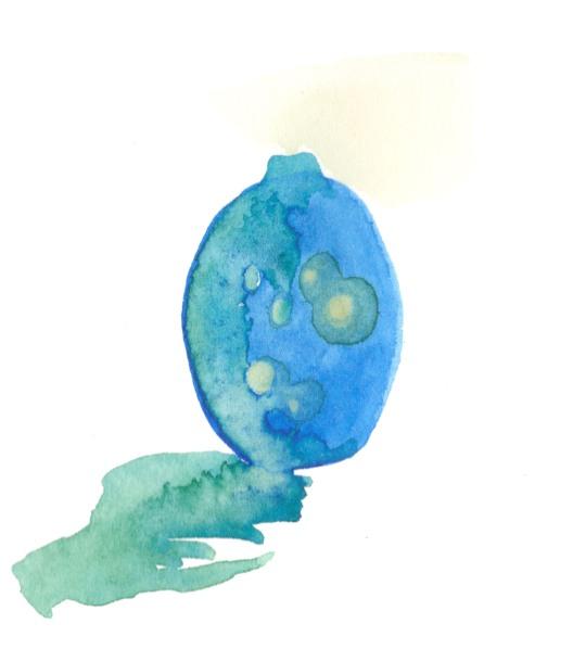 Vessel. Watercolor on paper.